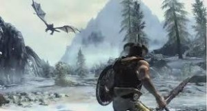 Skyrim - Dragon attack