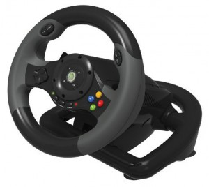 Hori EX2 gaming wheel side view