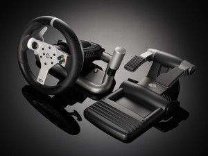 Madkatz wireless xbox wheel and pedals