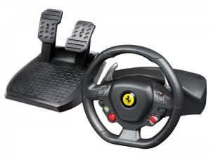 Thrustmaster 458 Italia gaming wheel and pedals