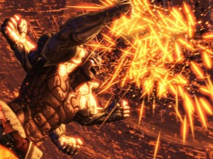 cut scene from asura`s wrath, asura with extra arms punching