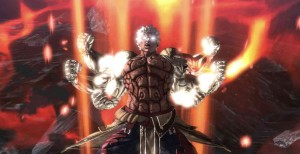 cut scene from asura`s wrath, asura with extra arms