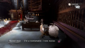 Vincent talks to sheep in dream sequence in catherine