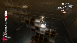 Climbing blocks in dream sequence in catherine