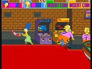 marge being chased by bad guys in simpsons xbla