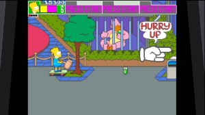 Bart on a skate board with hammer simpsons xbla