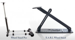 Both the E.A.R.L. wheel stand and Wheel Stand Pro one provide a stable platform for mounting your game steering wheel