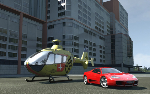 Crash-time-4 helicopter and ferrari
