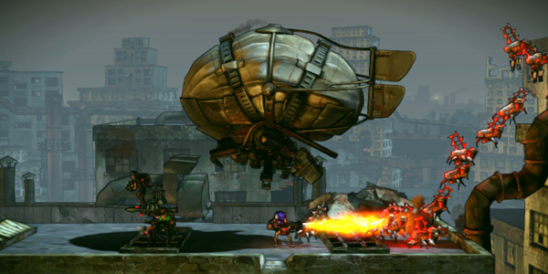 shoot-many-robots gameplay screenshot