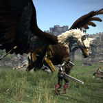 Dragons Dogma - griffin fight