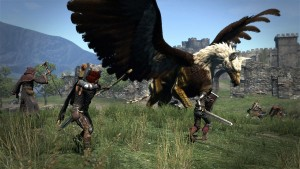 fighting a griffin - Dragons Dogma screenshot