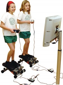 gamercize pro power stepper in use by children
