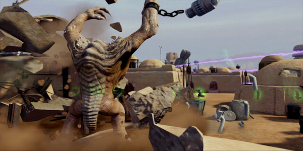 kinect-star-wars screenshot rancor revenge