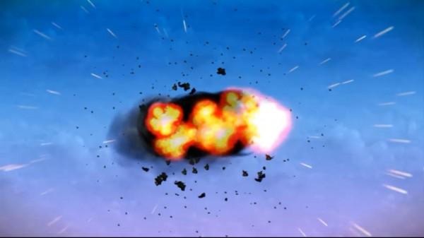 penguin forces' zeppelin blowing up