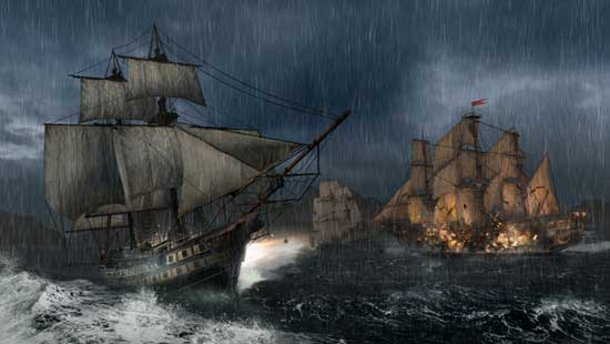Naval battle in Assassin's Creed 3