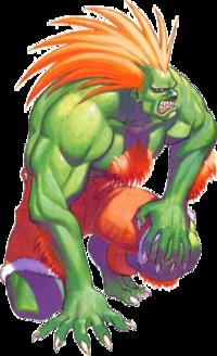 Blanka from Street Fighter in Super mode