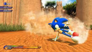 Sonic The Hedgehog in action