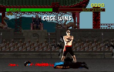 Cage wins