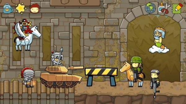 Scribblenauts Ultimate Town setting