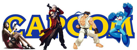 Capcom logo with game characters
