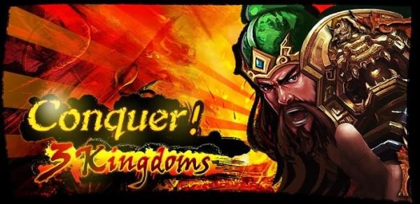 Conquer 3 Kingdoms title screen