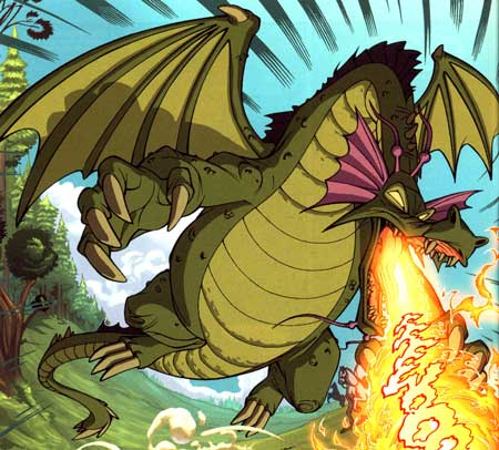 Singe breathing fire from Don Bluth's Dragon's Lair series