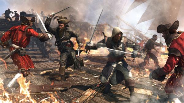 Assassin's Creed 4 - Fighting alongside the pirate Blackbeard