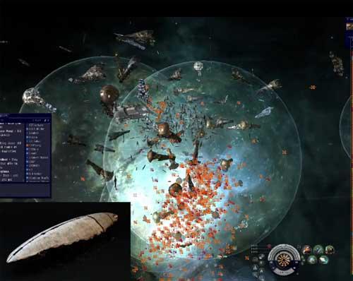 Eve Online battle N3 coalition vs CFC/Rus