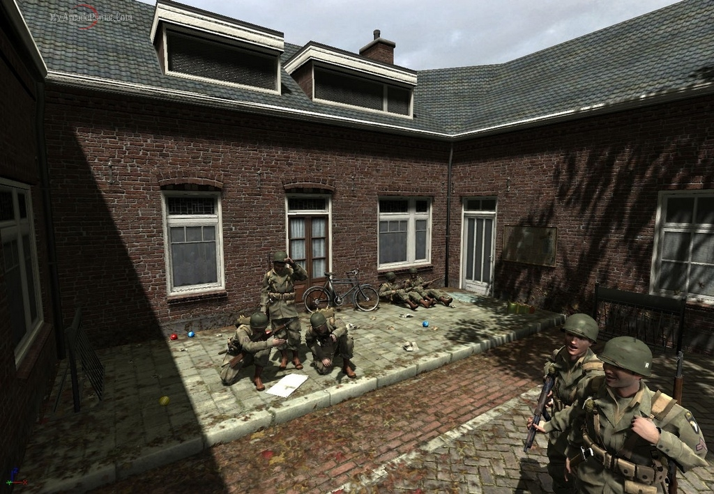 Brothers In Arms game - relaxing between battles