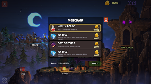 Dungeon Stars store choices