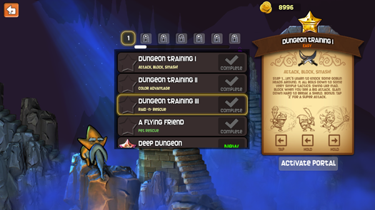 Dungeon Stars Dungeon menu