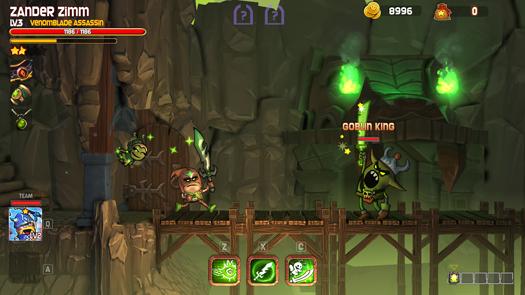 Dungeon Stars facing a Goblin King