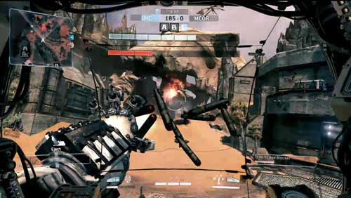 Titanfall mech Heads Up Display (HUD)